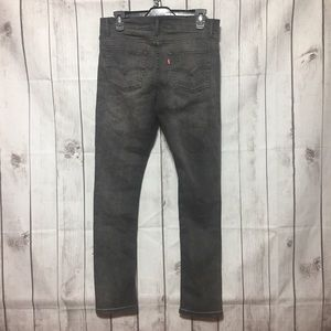 Levis 519 Extreme Skinny Distressed Gray 30x30